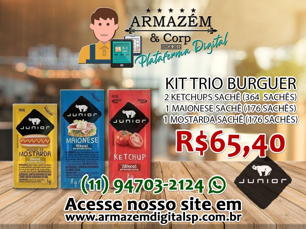Kit Trio Burguer Júnior
